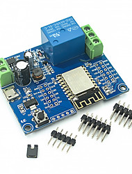 cheap -DC5-80V Fonte de Alimentacao Esp8266 Wifi Single-Channel Rele Modulo ESP-12F Placa de Desenvolvimento