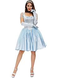 cheap -Movie / TV Theme Costumes Cosplay Costume Costume Women's Movie Cosplay Retro Princess Vacation Dress Blue Dress Gloves Headband Christmas Halloween Carnival Polyester / Cotton
