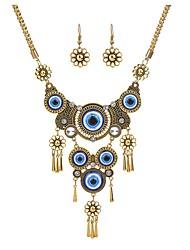 cheap -Women's Jewelry Set Retro Eyes Stylish Earrings Jewelry Gold / Silver For Street Festival 1 set