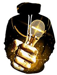 cheap -Men's Hoodie Graphic Music Hooded Daily Basic Hoodies Sweatshirts  Black