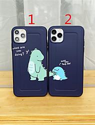 cheap -Case For Apple scene map iPhone 11 11 Pro 11 Pro Max back shape private model series cartoon couple dinosaur pattern TPU material IMD craft fine matte phone case