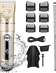 cheap -Professional Hair Clippers for Men Kids Professional Hair Trimmer Set Cordless Rechargeable Led Display Five Speed Adjustment Electric Hair Clippers with 6 Guide Combs