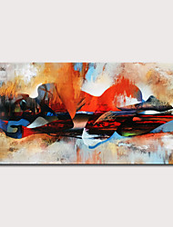 cheap -Oil Painting Hand Painted Horizontal People Abstract Landscape Modern Rolled Canvas (No Frame)