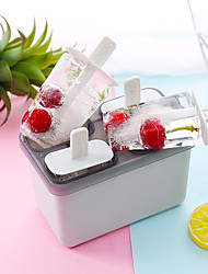 cheap -4 Grids Ice Tools PP Ice Cream Maker Portable Party Evening Drinkware Random Color