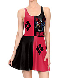 povoljno -Žene Haljina A-kroja Mini haljina - Bez rukávů Print Print Proljeće Ležerne prilike Dnevno 2020 Red S M L XL