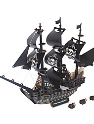cheap -Black Pearl Wooden Puzzle Model Building Kit Wooden Model EPS Kid's Adults' Toy Gift