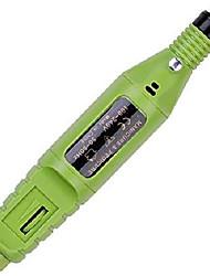 cheap -mini portable electric nail drill, acrylic pen shape finger toe nail care, electric nail polishing machine,nail file nail tips manicure pedicure set & #40;green& #41;