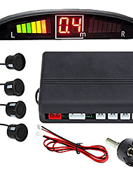 cheap -A43 Car Auto Vehicle Reverse Backup Radar System with 4 Parking Sensors Distance Detection  LED Distance Display  Sound Warning buzzing