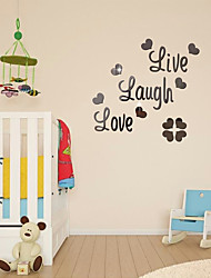 cheap -Live Every Moment,Laugh Every Day,Love Beyond Words,Wall Sticker Motivational Acrylic Mirror Wall Decals,Family Inspirational Wall Stickers Quotes 56*56cm