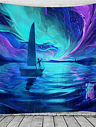 cheap -Fantasy Wonderland Abstract IllustrationTapestry Wall Hanging Tapestries Wall Blanket Wall Art Wall Decor Landscape Painting Tapestry Wall Decor