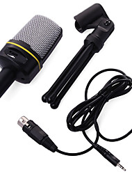 cheap -USB Condenser Recording Microphone For Pc Cardioid Studio Recording Vocals Voice Over Mic Headphone Output&Volume Control