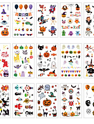 cheap -Halloween Party Toys Tattoo Stickers 25 pcs Cartoon Waterproof Paper Kid's Adults Trick or Treat Halloween Party Favors Supplies