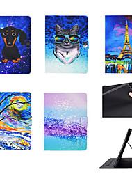 cheap -Phone Case For Huawei Full Body Case Huawei Mediapad T5 10 Card Holder Shockproof Flip Dog Animal PU Leather TPU