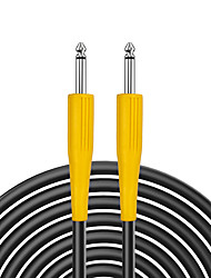 cheap -NAOMI 3M Guitar Bass Cable 1/4  Cable Heavy Duty 6.35mm Male to Male Stereo Jack Balanced Audio Interconnect Cable Yellow
