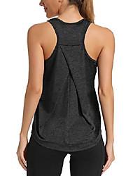 رخيصةأون -تجريب قمم للدبابات للنساء الصالة الرياضية ممارسة اليوغا الرياضية قمم قمصان رياضية racerback الفوشيه