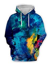 cheap -Men's Pullover Hoodie Sweatshirt Graphic Casual Hoodies Sweatshirts  Royal Blue