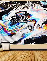 """cheap -psychedelic art tapestry, tapestry wall hanging, colorful gouache natural luxury gouache landscape tapestry trippy tapestry for bedroom, living room, dorm, home decoration & #40;59.1"""" x 82.7""""&"""