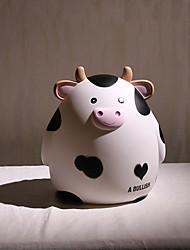cheap -Piggy Bank / Money Bank 1 pcs Cow Cartoon Cute PVC (Polyvinylchlorid) For Kid's Teenager Boys' Girls' / 14 Years & Up