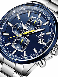 cheap -BEN NEVIS Men's Steel Band Watches Quartz Modern Style Stylish Casual Water Resistant / Waterproof Analog Black / Silver Silver+Blue / Stainless Steel / Stainless Steel / Calendar / date / day