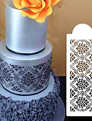 cheap -Cake Spray Mold Edge Fancy Sugar Transfer Mold 4 With Lace Cake Edge Embossing Mold Sugar Transfer Hollow Template