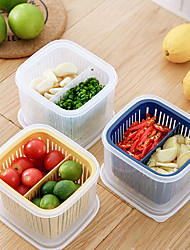 cheap -Divided Kitchen Storage Box for Kitchen Refrigerator Special Fruit and Vegetable Draining Ginger Garlic