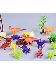cheap -Dragon & Dinosaur Toy Model Building Kit Dinosaur Figure Triceratops Jurassic Dinosaur Tyrannosaurus Velociraptor Dinosaur Tyrannosaurus Rex Animals Simulation Plastic 24 pcs Kid's Party Favors