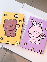 cheap -Case For Apple iPad  air1 air2 pro 9.7inch 2017 2018 with Stand Flip Full Body Cases PU Leather TPU Protective Stand Cover Pattern bear cute stars lovely