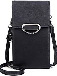 cheap -zanesun crossbody cell phone purse for women, small pu leather handbag purse ladies wallet with credit card slots&strap (black)