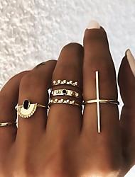 cheap -Multi Finger Ring Retro Gold Alloy Stylish Simple European 6pcs Middle Finger / Women's