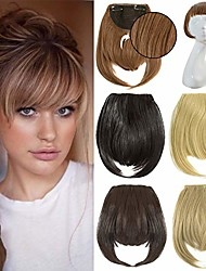 "cheap -fringe bangs hair extensions 7"" one piece clip in bangs straight cute hairpiece thick front neat bang with temples"