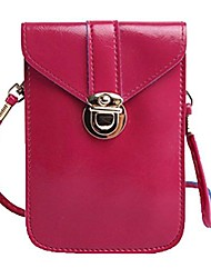 cheap -yajama women leather mini handbags crossbody single shoulder bag cellphone pack coins purse pouch(rosa)