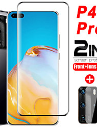 cheap -1/2/3 PCS 2 in 1 Protective Glass For Huawei p40 Pro Camera lens Screen Protector On Huawei P40 Tempered Glass Film