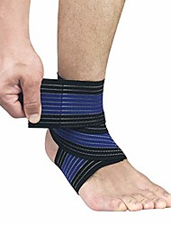 cheap -ankle support brace, adjustable ankle support wrap for sports protection,elastic knee brace compression bandage wrap support for legs fits most people, breathable ankle brace for men and women (blue)