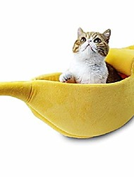 cheap -pet cat bed house cute banana, warm soft punny dogs sofa sleeping playing resting bed, lovely pet supplies for cats kittens (large, pink)