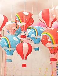 cheap -Hand Held cCartoon Hot Air Balloon Paper Lantern 1pc