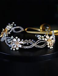 cheap -Modern Euramerican Crystal / Imitation Pearl / Alloy Headdress / Headpiece / Hair Accessory with Crystal / Imitation Pearl / Chain 1 PC Wedding / Party / Evening Headpiece