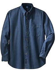 cheap -port & company mens long sleeve value denim shirt sp10 -ink blue xs
