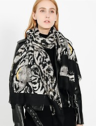cheap -Women's Active Rectangle Scarf - Leopard / Print Washable