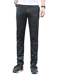 رخيصةأون -رجالي أساسي مناسب للبس اليومي عطلة نهاية الاسبوع تشينوز سراويل كارغو بنطلون تمويه طباعة متنفس أسود M L XL