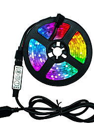cheap -1set LED Strip Light Flexible Lamp 1M 2M 3M 4M 5M Tape Diode SMD 5050 DC5V Desk Screen TV Background Lighting USB Cable 3 Key Control IP65