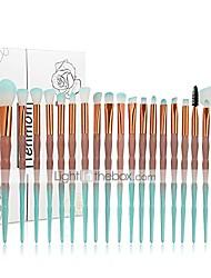 cheap -20pcs unicorn shiny gold diamond makeup brush set with box professional foundation powder cream blush brush kits (green)