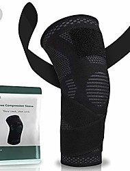 cheap -tezz adjustable knee brace with strap - compression sleeve wrap for men & women, knee support for acl, patellar tendon, arthritis pain, meniscus tear, gym basketball baseball running (2x-large,