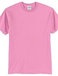 cheap -port & company mens 50/50 cotton/poly t-shirt pc55 -candy pink 4xl