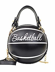 cheap -basketball shaped cross body messenger bag purse tote mini shoulder pu leather round handbag for women girls