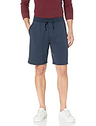 cheap -amazon brand - men's lightweight french terry short, navy, medium