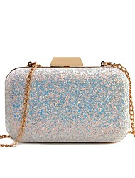 cheap -Women's Bags Faux Leather Evening Bag Sequin Chain Glitter Shine Party Wedding Event / Party Evening Bag Wedding Bags Handbags White Blushing Pink