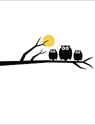 cheap -20*58CM New Cartoon Stickers Owl Self Adhesive Wall Stickers Creative Children's Room Wall Decoration