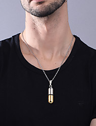 cheap -Personalized Customized Pendant Necklace Stainless Steel 1pc / pack Golden Black