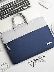cheap -Laptop Briefcase 15.6 Inch Computer Bag Ultrathin Canvas Contrast Color Laptop Bag For MacbookPro2020 Unisex Handbag