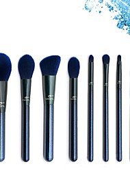 cheap -Blue Series 8pcs Makeup Brushes Set Eye shadow Highlight Blooming Oblique Eyebrows